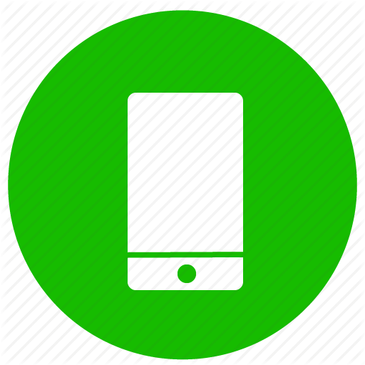 Mobile Phone Icon Green Free Icons