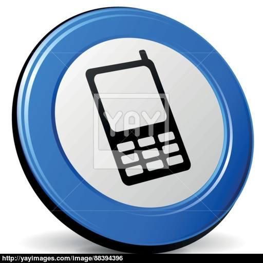 Vector Mobile Phone Icon Vector