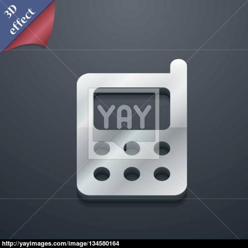 Mobile Phone Icon Symbol Style Trendy, Modern Design