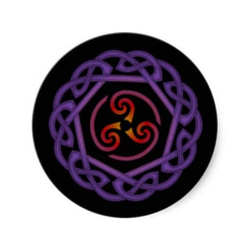 Red Purple Triskelion Knot Sticker Red Purple And Tattoo