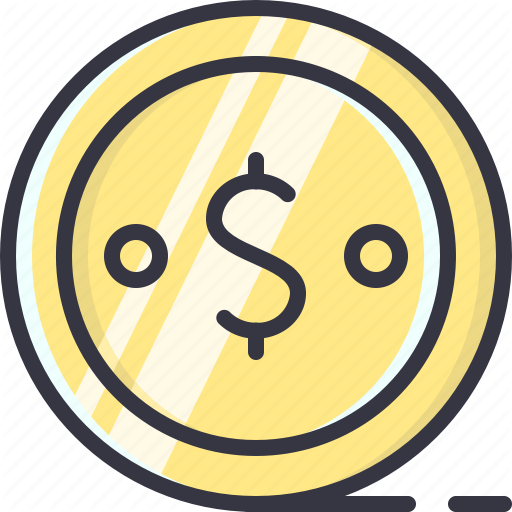 Cent, Coin, Currency, Dollar, Money Icon