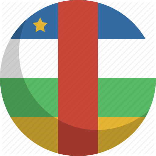 African, Central, Country, Flag, Nation Icon