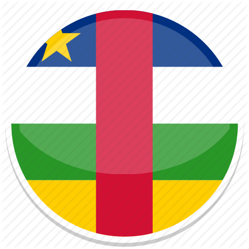African, Central, Flag, Republic, Round Icon