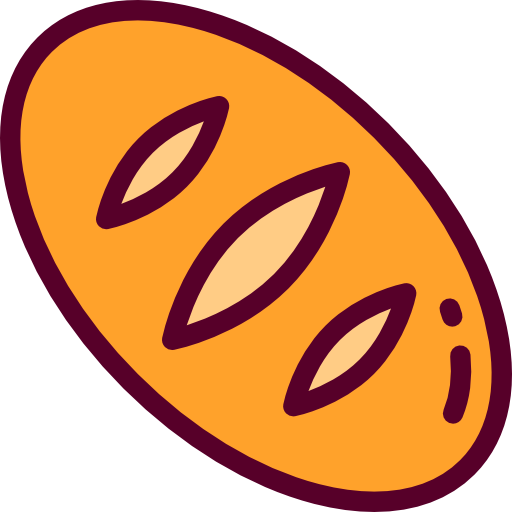 Breads, Breakfast, Bakery, Bread, Food, Cereal Icon