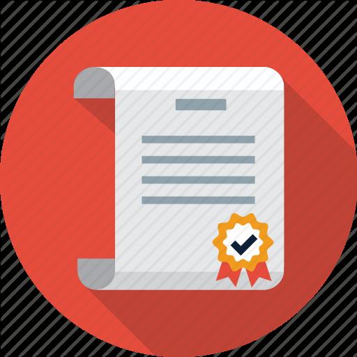 Certificate, Diploma, Patent Icon