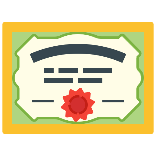 Mixed Certificate Icon