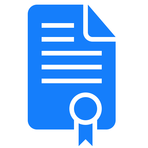 Certificate, Document Icon