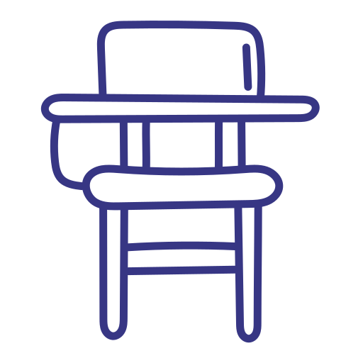 School, Outline, Hand, Draw, Chair, Desk Icon Free Of School