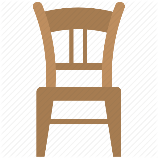 Chair, Dining Chair, Furniture, Seat, Wooden Chair Icon