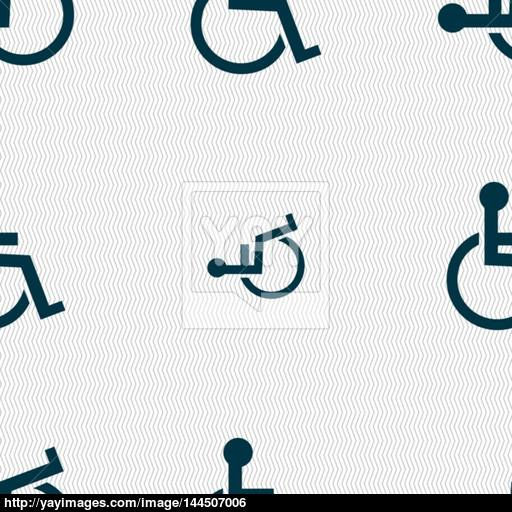 Disabled Sign Icon Human On Wheelchair Symbol Handicapped