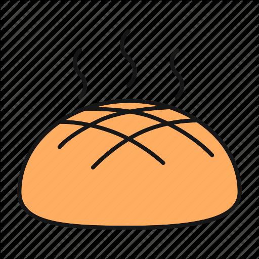 Bakery, Bread, Bread Loaf, Food, Fresh, Hot, Rye Icon