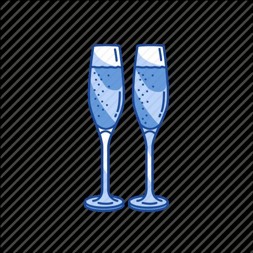 Champagne, Sparkling Glass, Wine, Wine Glass Icon