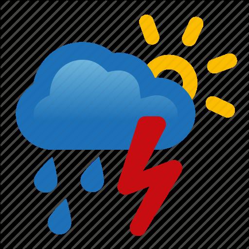 Chance, Cloud, Rain, Storm, Thunderstorm, Weather Icon