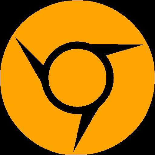 Orange Chrome Icon