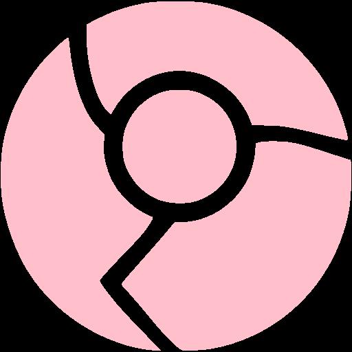 Pink Chrome Icon