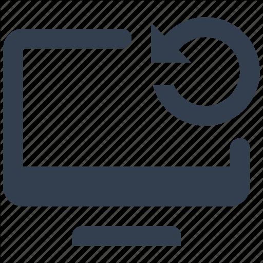 Arrow, Change, Computer, Monitor, Refresh, Sign Icon