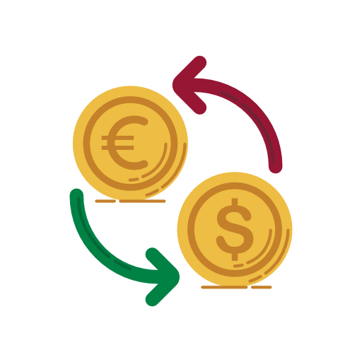 Change, Coins, Dollar, Euro, Currency Icon Free Of Banking Icons