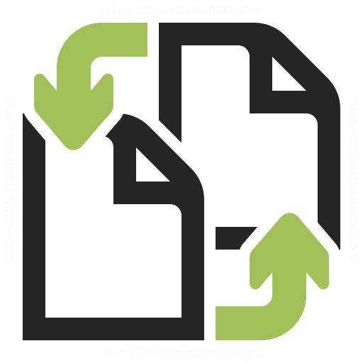 Documents Exchange Icon Iconexperience