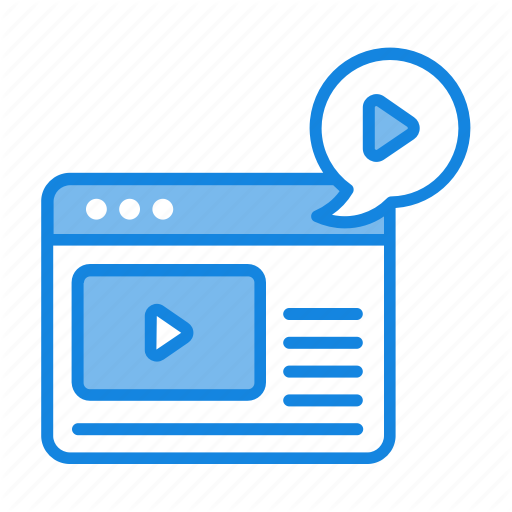 Blog, Channel, Network, Social, Video, Window Icon Icon