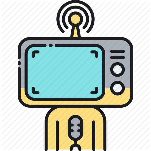 Broadcast, Television, Tv, Tv Broadcast, Tv Channel Icon