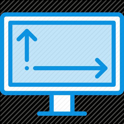 Monitor, Size, Tv Icon