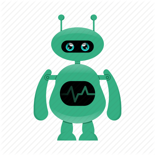 Android, Cute Robot, Cyborg, Robot Character Icon