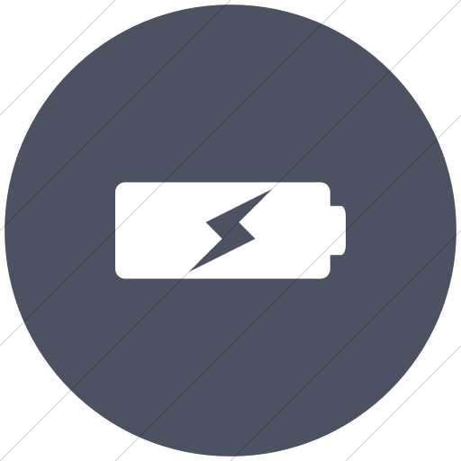 Flat Circle White On Blue Gray Raphael Battery Charging