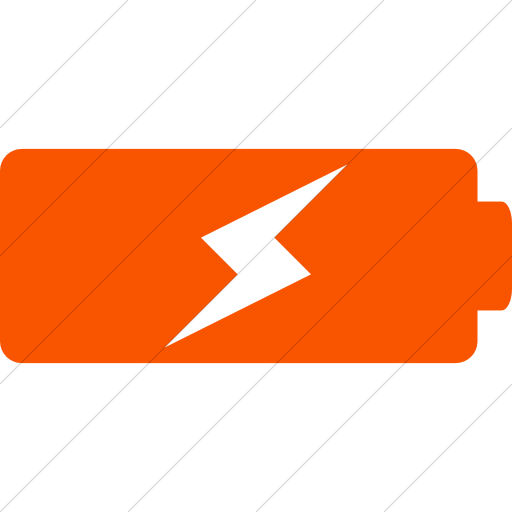 Simple Orange Raphael Battery Charging Icon