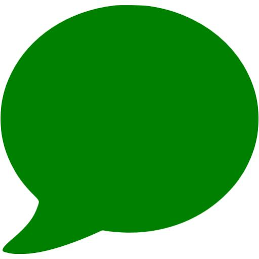 Green Talk Bubble Icon Images