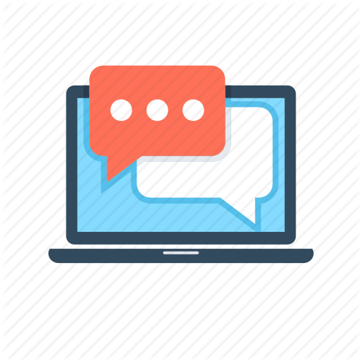 Chat Bubbles, Chat Room, Online Chatting, Talk, Web Chat Icon