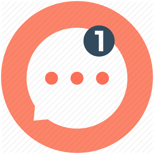 Chat Bubble, Chat Room, New Message, One Message, Speech Bubble Icon
