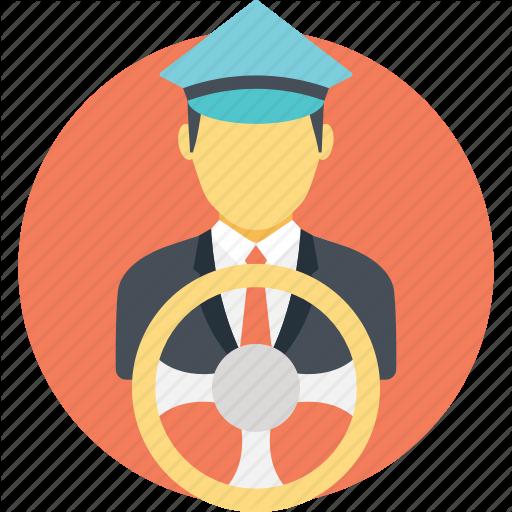 Chauffeur, Driver, Motorist, Motorman, Transporter Icon