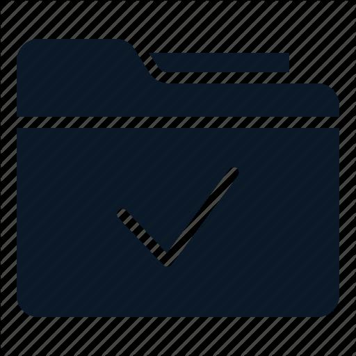 Archive, Check, File, Folder Icon