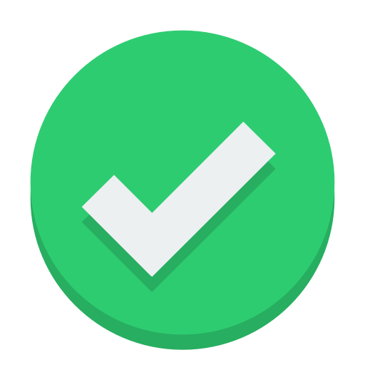 Sign Check Icon Small Flat Iconset Paomedia