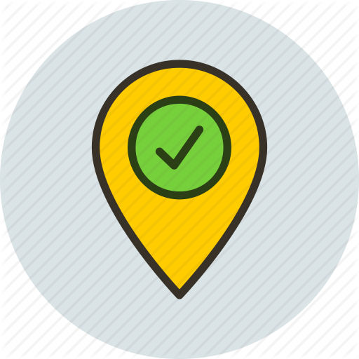 Check In, Geo, Location, Targeting Icon