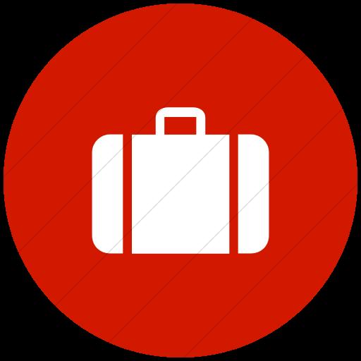 Flat Circle White On Red Aiga Baggage Check N