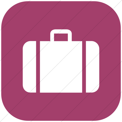 Flat Rounded Square White On Pink Aiga Baggage Check