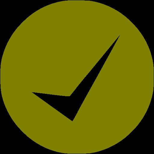 Olive Check Mark Icon
