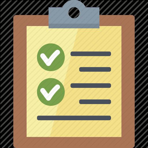 Check Mark, Checklist, To Do List Icon