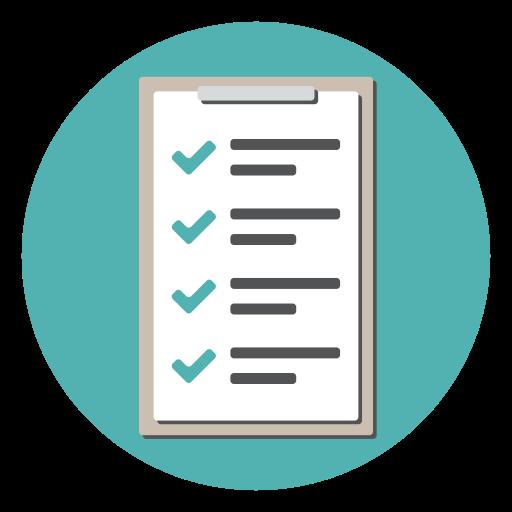 Clipboard, Document, List, Checkmark, Checklist, Tracklist Icon
