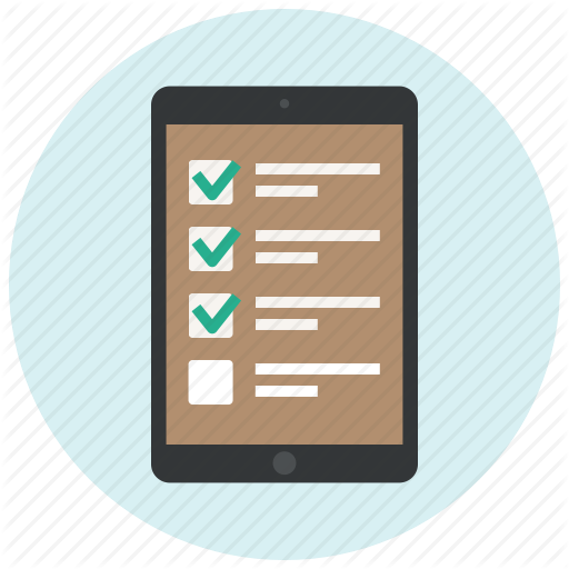 Shop, Ipad, Application, App, Checklist, List, Ecommerce Icon
