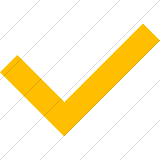 Simple Yellow Raphael Check Mark Icon
