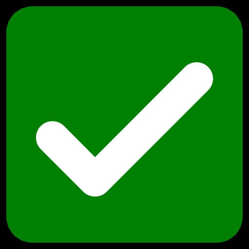 White Check Mark In Dark Green Rounded Square