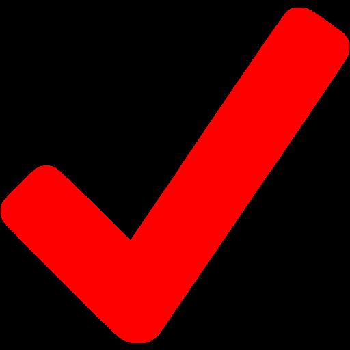 Red Checkmark Icon