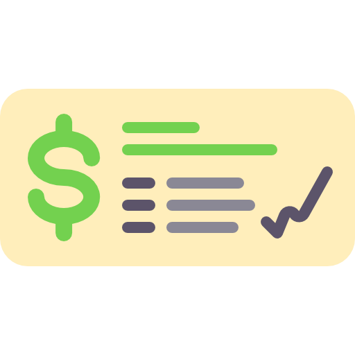 Bank, Commerce, Check, Money, Payment Method, Business Icon