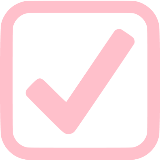 Pink Checked Checkbox Icon