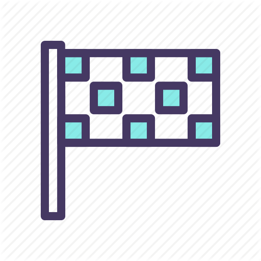 Checkered, End, Flag, Race Icon