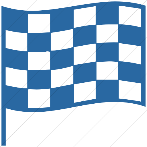 Simple Blue Classica Chequered Flag Icon