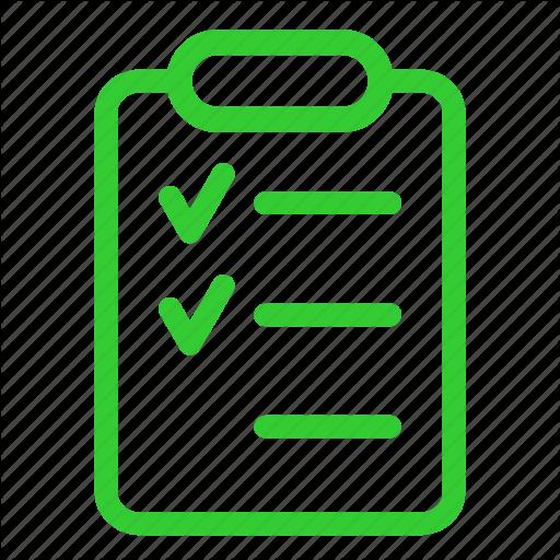 Checklist, Clipboard, Green, Report, Tasklist, Ticks Icon