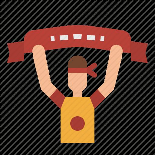 Cheer, Cheerleader, Flag, Football, Man, Soccer, Team Icon